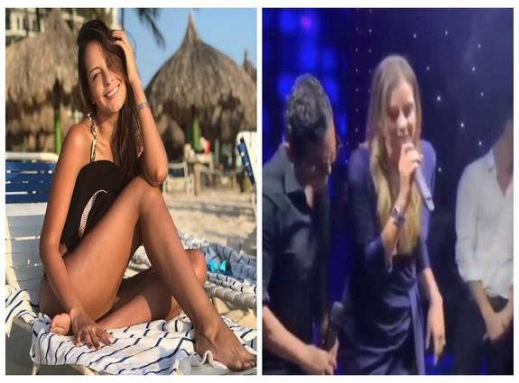 Laura Acuña cantando vallenato